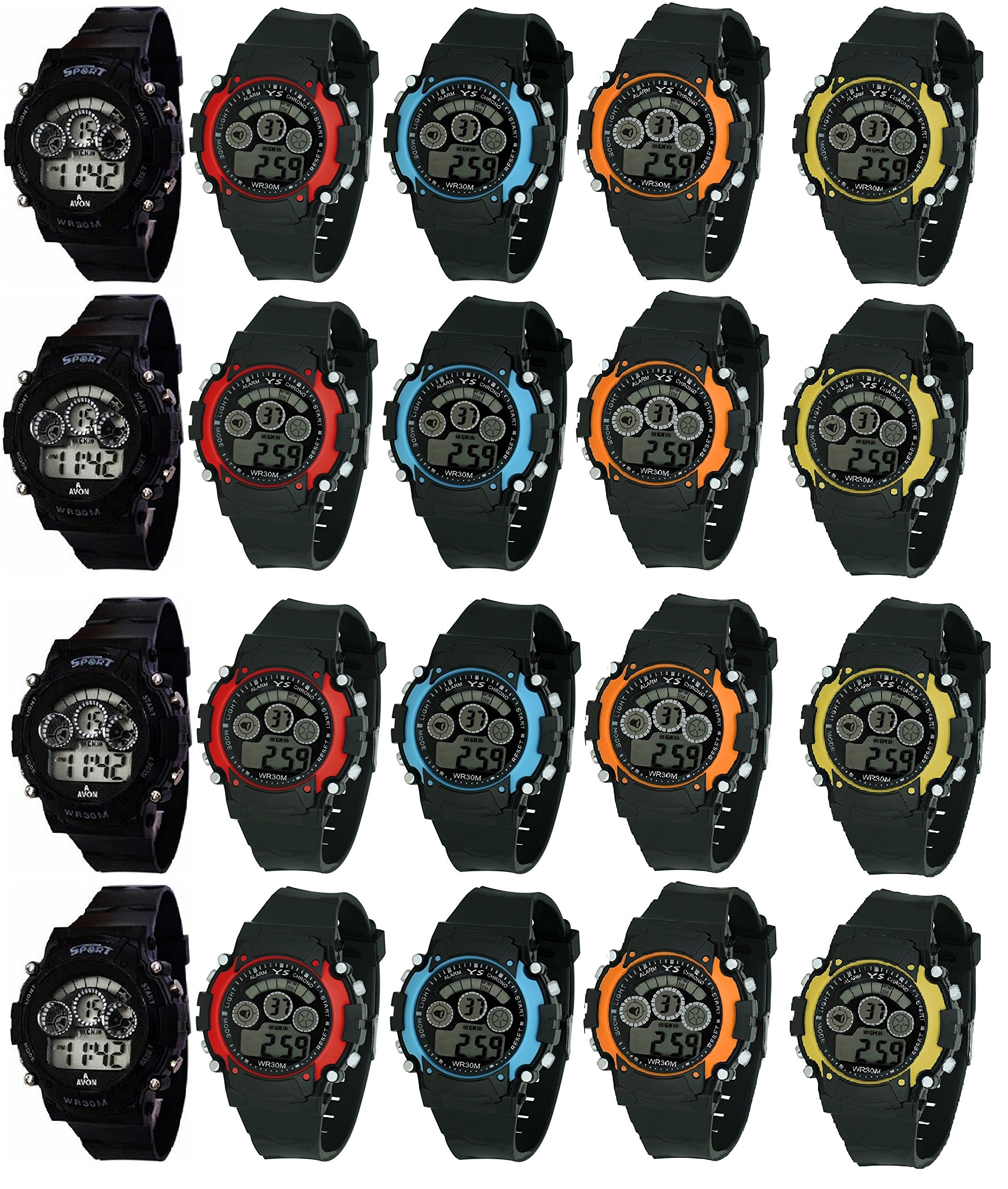 Pappi-Haunt - Kids Favourite - Birthday Party Return Gift - 20 Multifunction Digital Sport Smart Band with 7 Colors Light