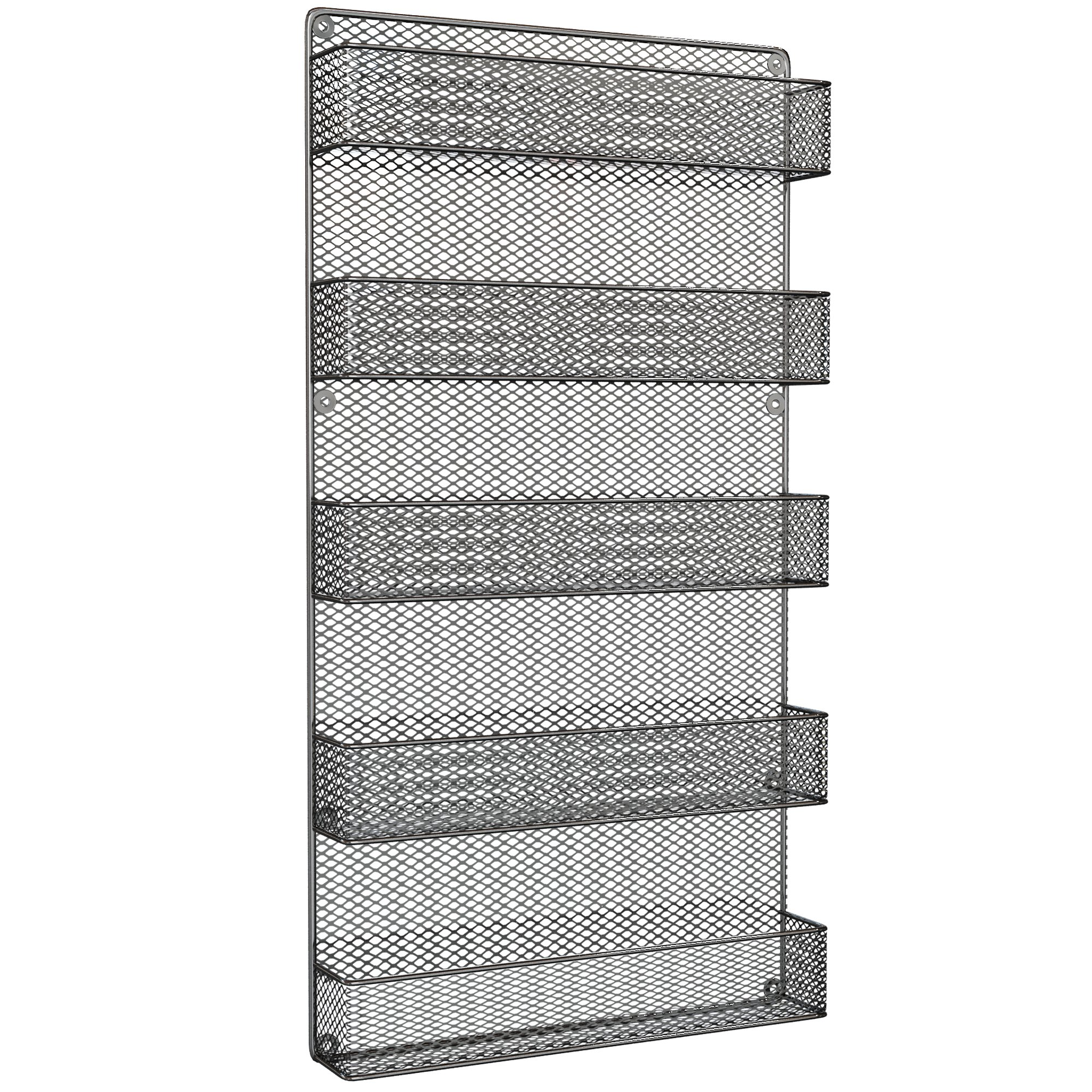 Spice Racks Organizer - Country Rustic Wire Style - Great Storage for Pantry, Cabinet and Kitchen - Wall Mounted 5 Tier Shelves by Spice Racks