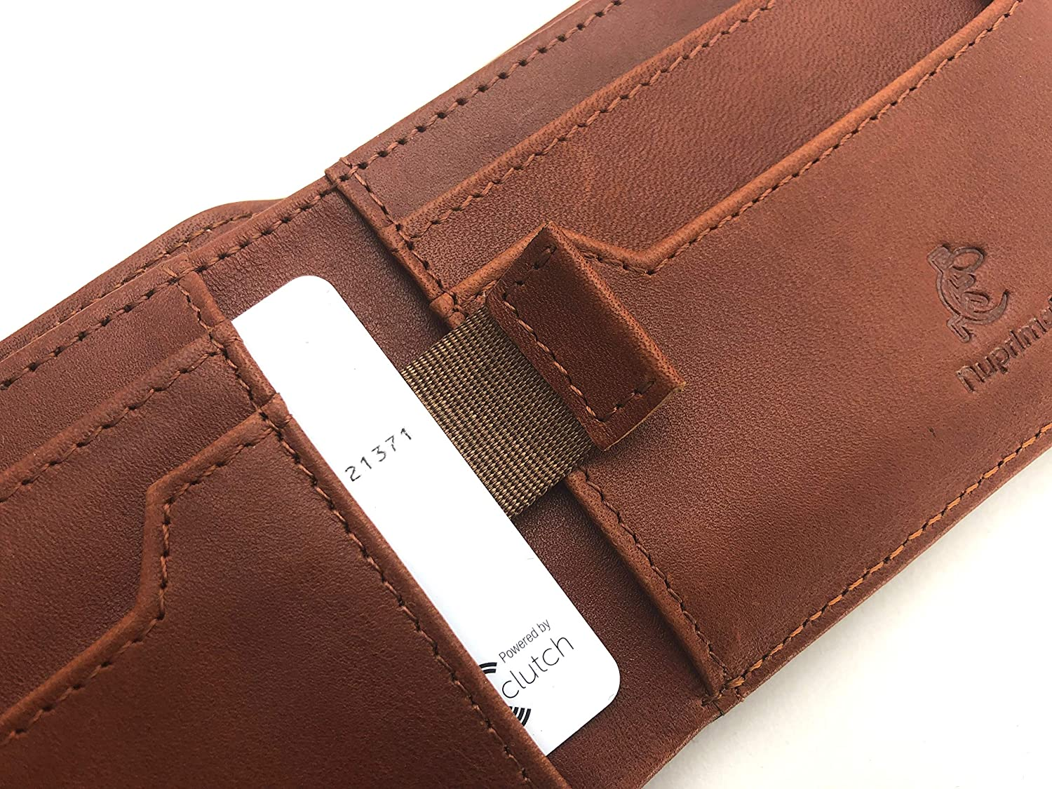 Slim Front Pocket Bifold Leather Wallet With RFID Blocking Nuprimal ThinFold Wallet