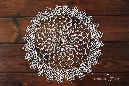 tapete de encaje de algodón blanco: Amazon.es: Handmade