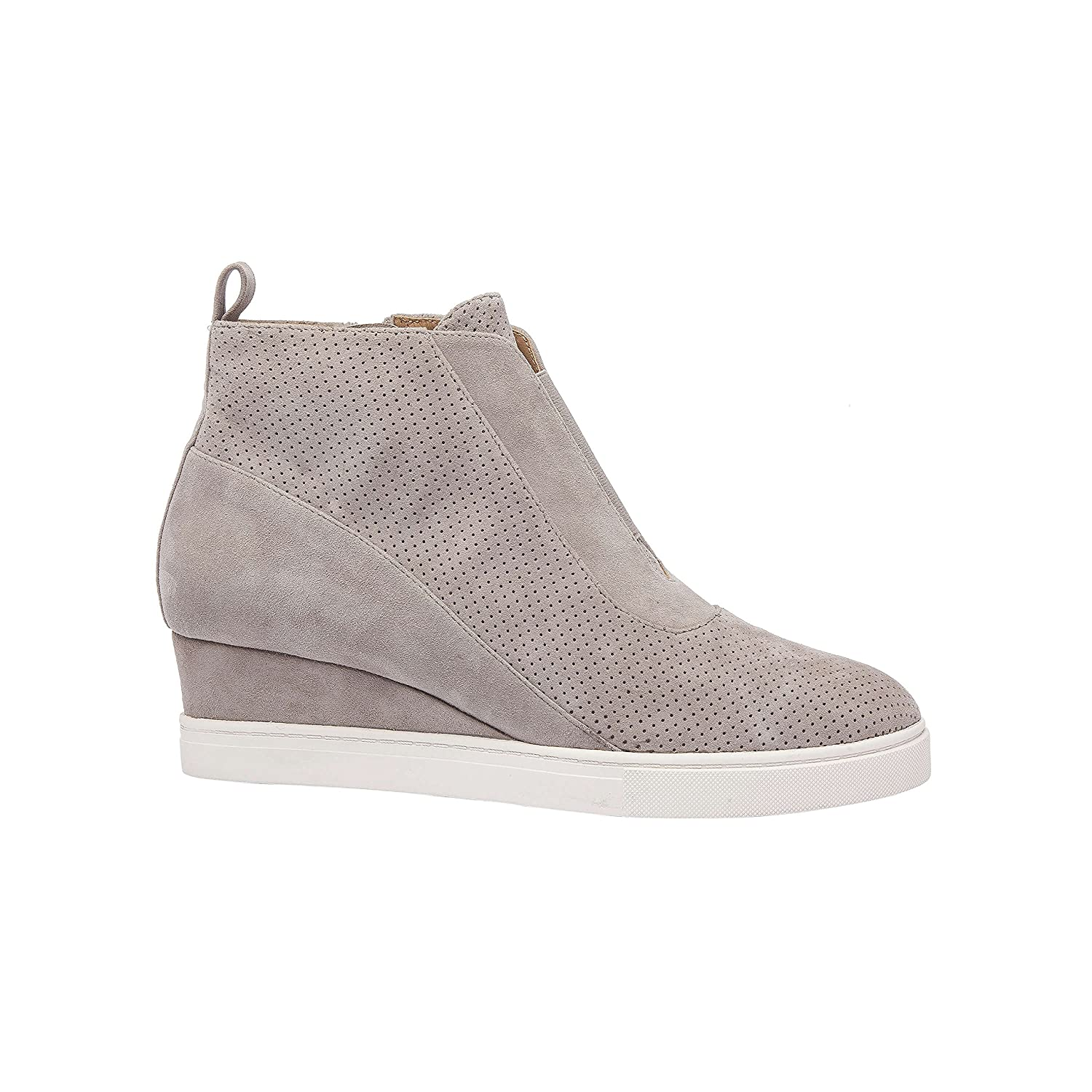 Linea Paolo Anna   Low Heel Designer Platform Wedge Sneaker Bootie Comfortable Fashion Ankle Boot (New Fall) B07F6WPRFP 5.5 M US Rock Perforated Suede