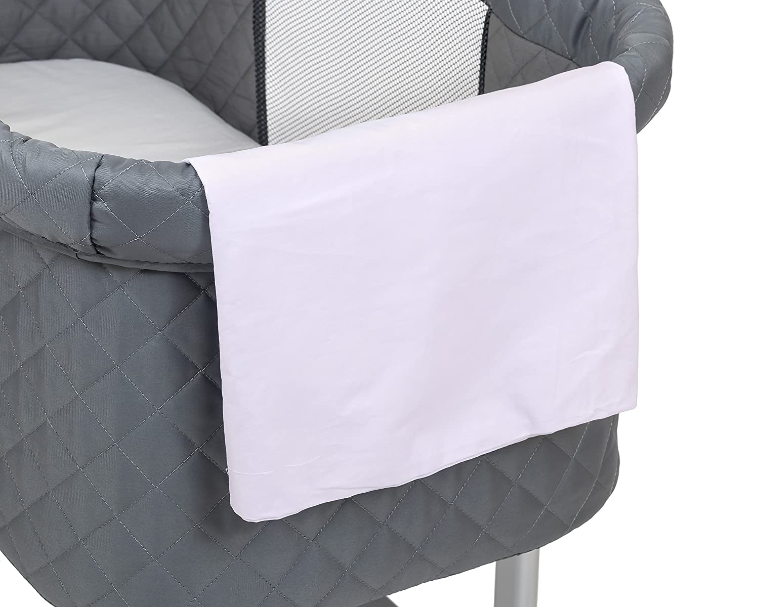 Green Frog Lily Pod Bassinet Replacement Sheets (White, 2 Cotton)