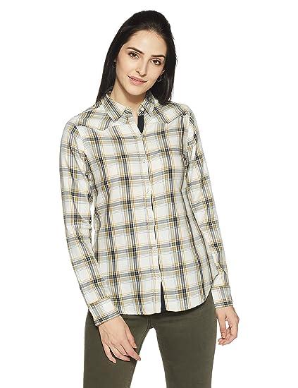 US Polo Women's Button Down Shirt Women's Blouses & Shirts at amazon