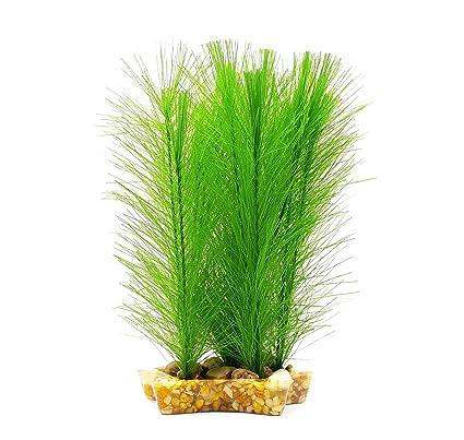 ZAZALUM - Plantas plásticas artificiales para decoración de acuarios y peceras