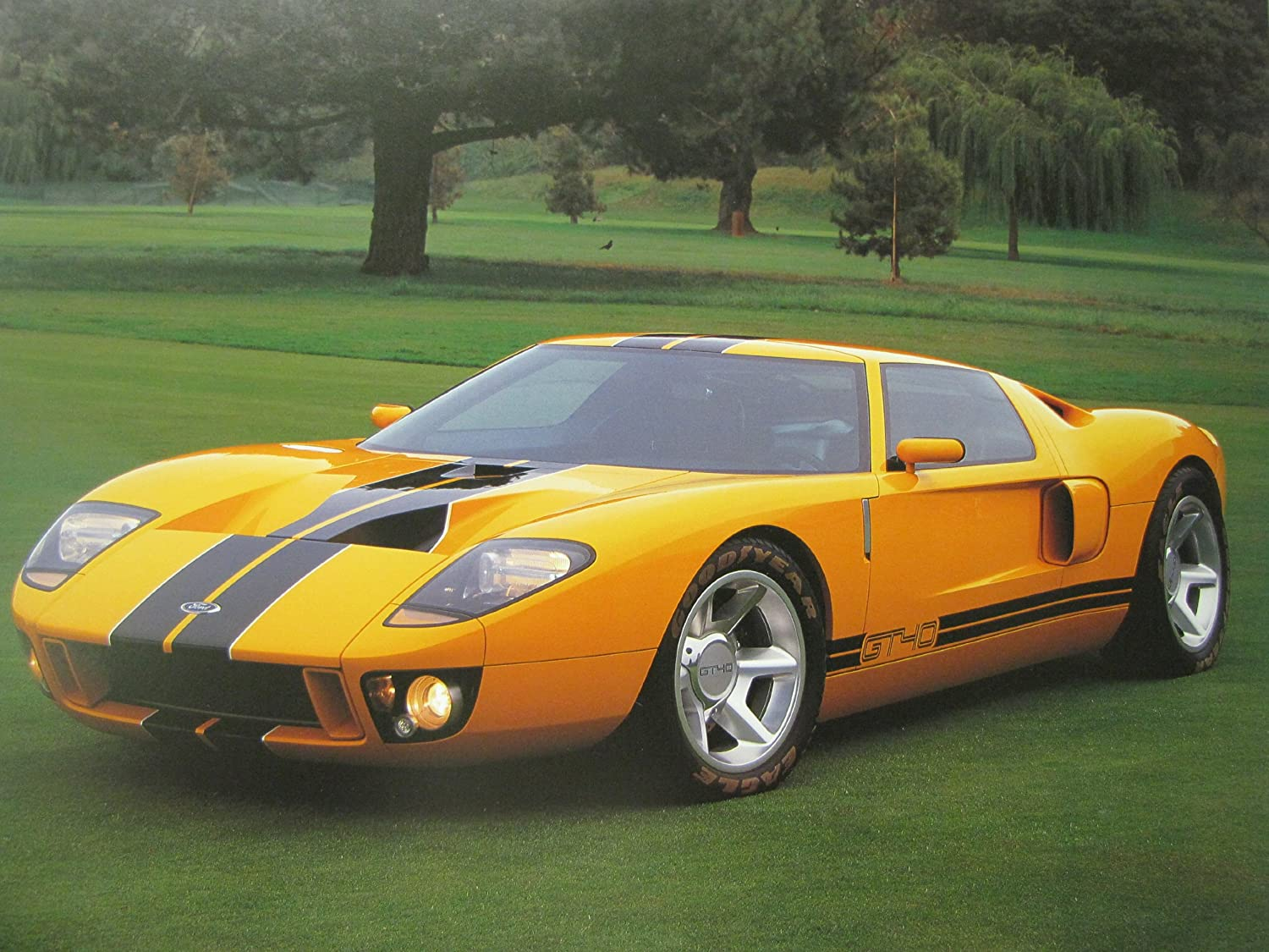 Amazon Com Racing Wall Decor Prototype Sports Ford Gt Car Art Print Poster X Home Kitchen