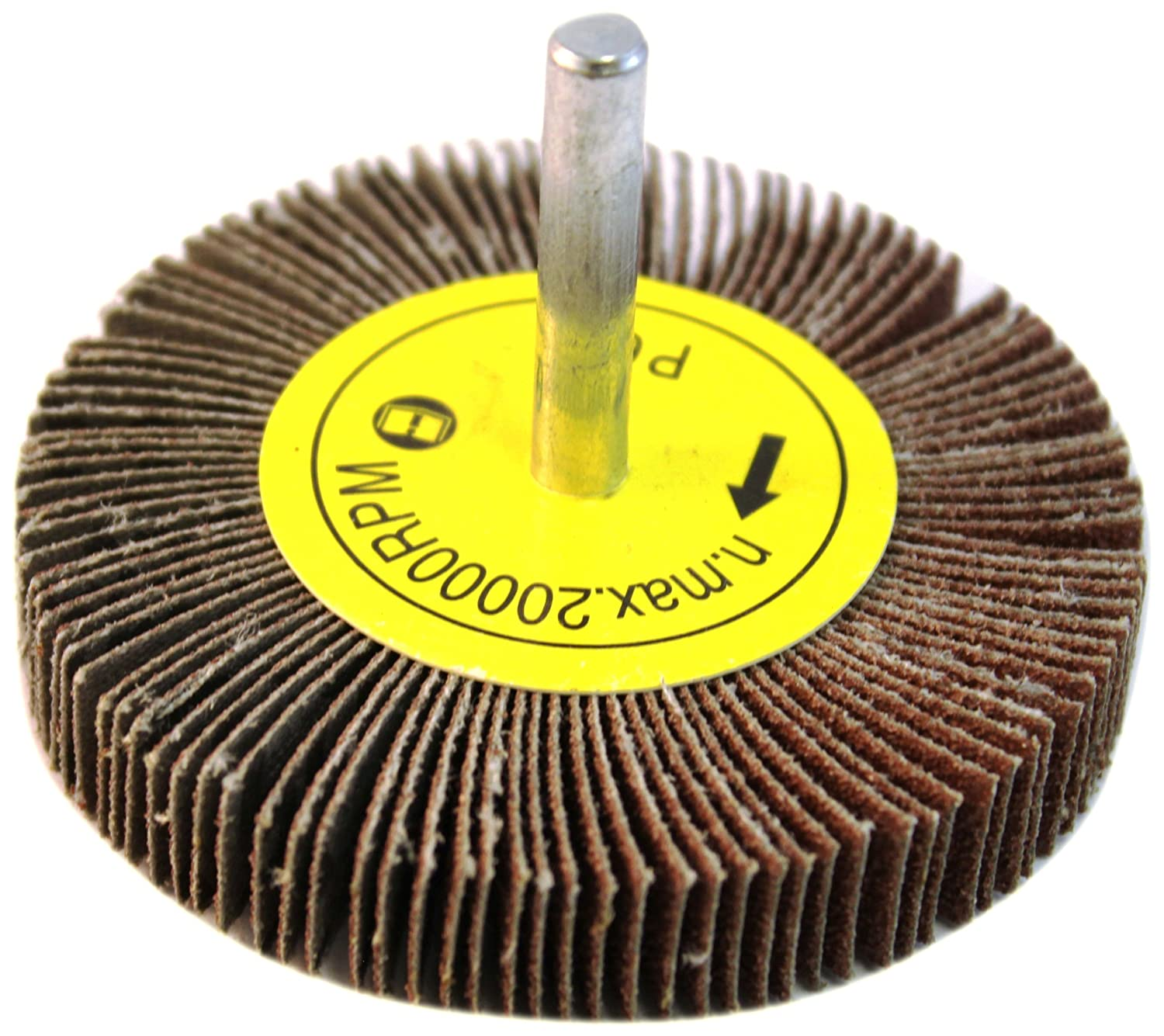 """5 Pack A//O 60 Grit for Sanding 3/"""" x 1/"""" x 1//4/"""" Shank Mounted Flap Wheels"""
