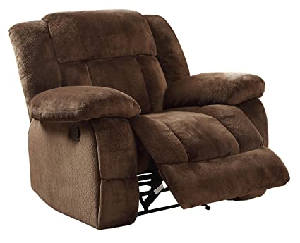 Exceptionnel Homelegance 9636 1 Laurelton Textured Plush Microfiber Glider Recliner Chair,  Chocolate Brown
