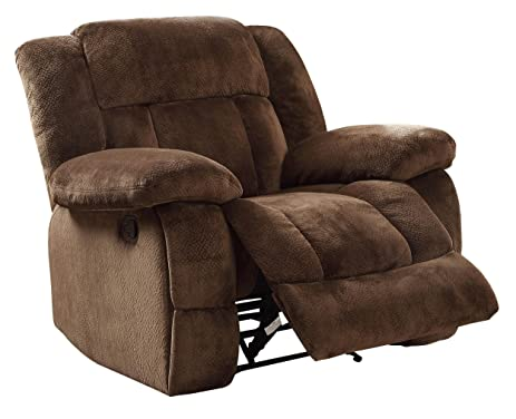 Homelegance 9636-1 Laurelton Textured Plush Microfiber Glider Recliner Chair Chocolate Brown  sc 1 st  Amazon.com & Amazon.com: Homelegance 9636-1 Laurelton Textured Plush Microfiber ... islam-shia.org
