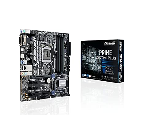 Amazon.com: ASUS PRIME Z270M-Plus LGA1151 DDR4 HDMI DVI VGA M.2 ...