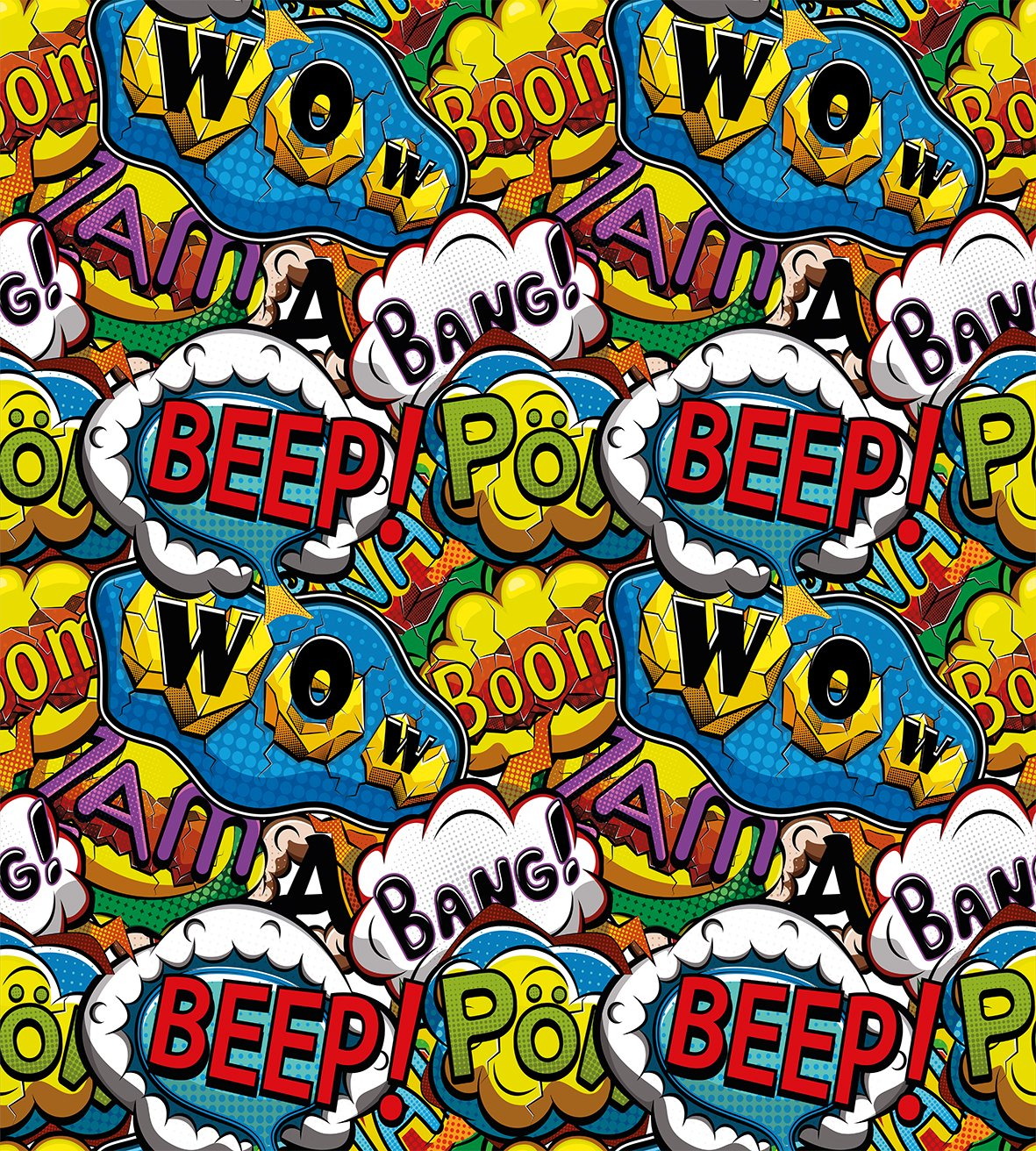 Comics Speech Bubbles Beep Wow with Vivid Old Effects Boys Supernatural Print Ambesonne Superhero Duvet Cover Set Twin Size Decorative 2 Piece Bedding Set with 1 Pillow Sham Multicolor