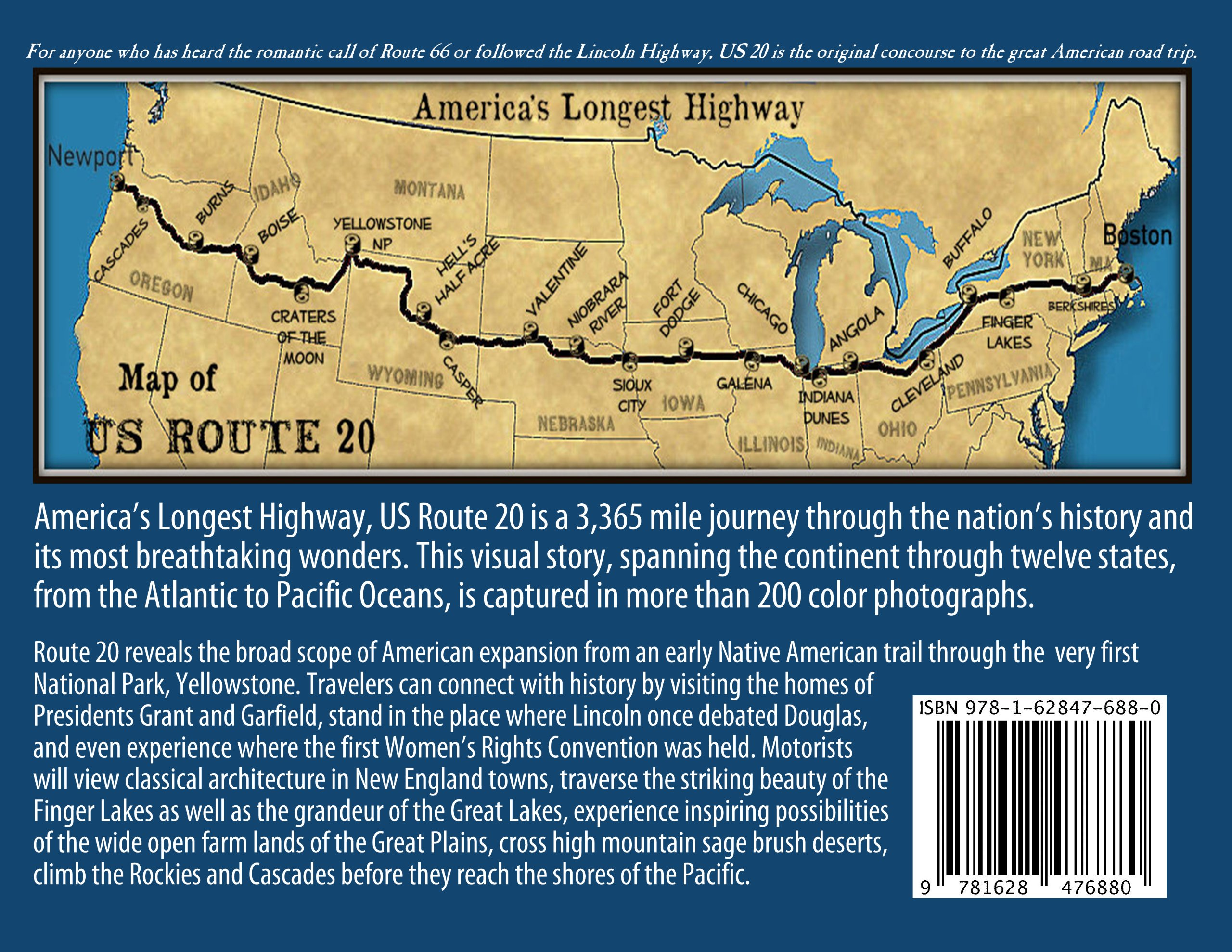 Historic US Route  A Journey Across Americas Longest Highway - Map us route 20