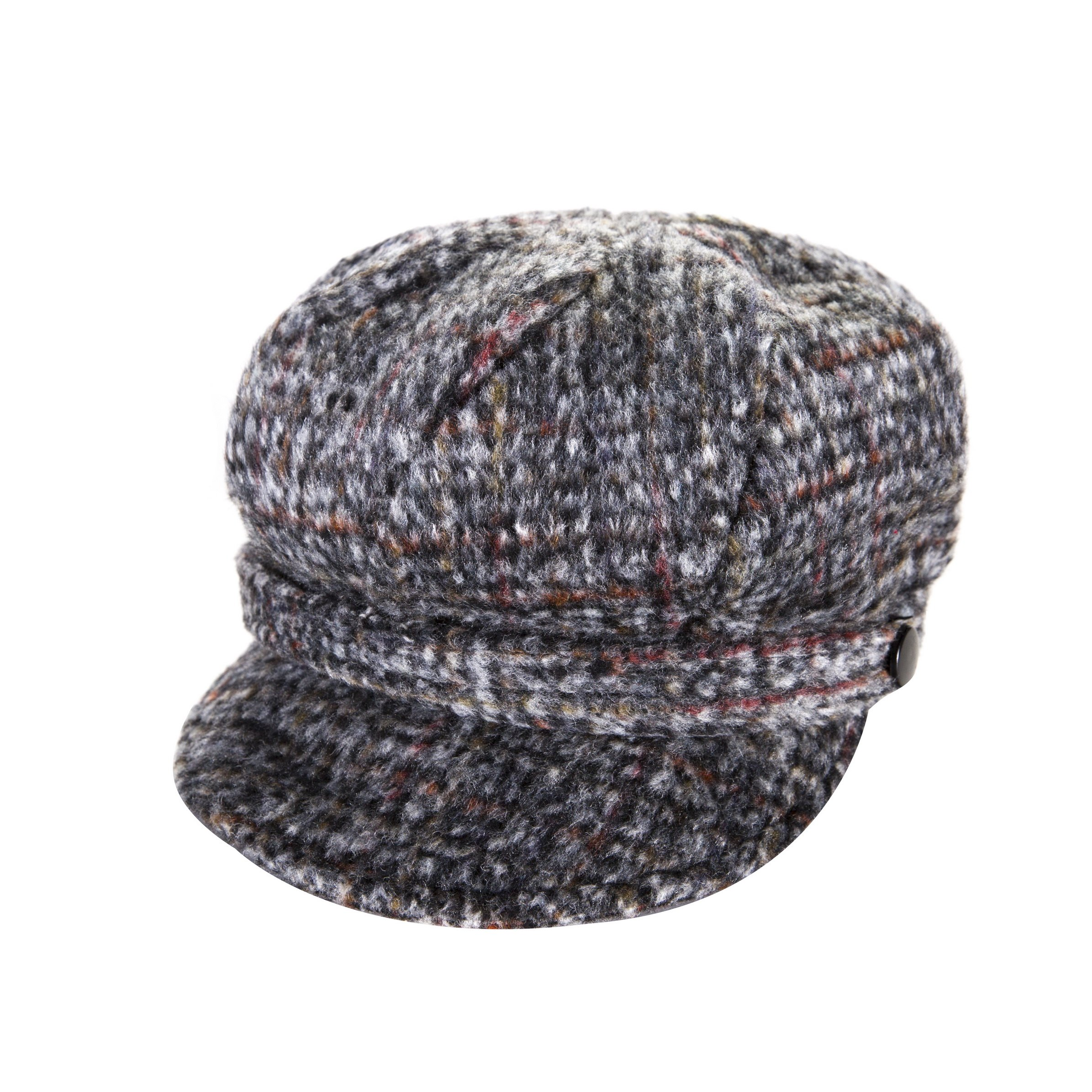 Heritage Traditions Womens Tweed Wool Peaked Newsboy Cap Hat (Grey) by Heritage Traditions (Image #1)