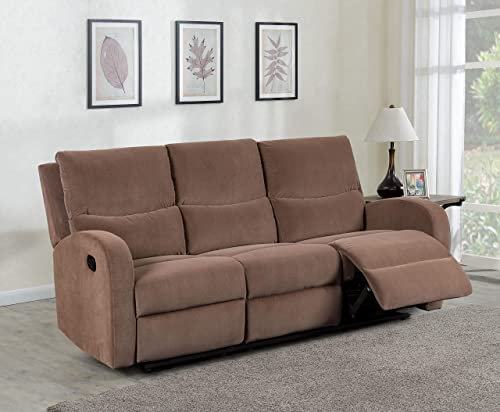 Container Furniture Direct Kelly Modern Upholstered Living Room Reclining Sofa