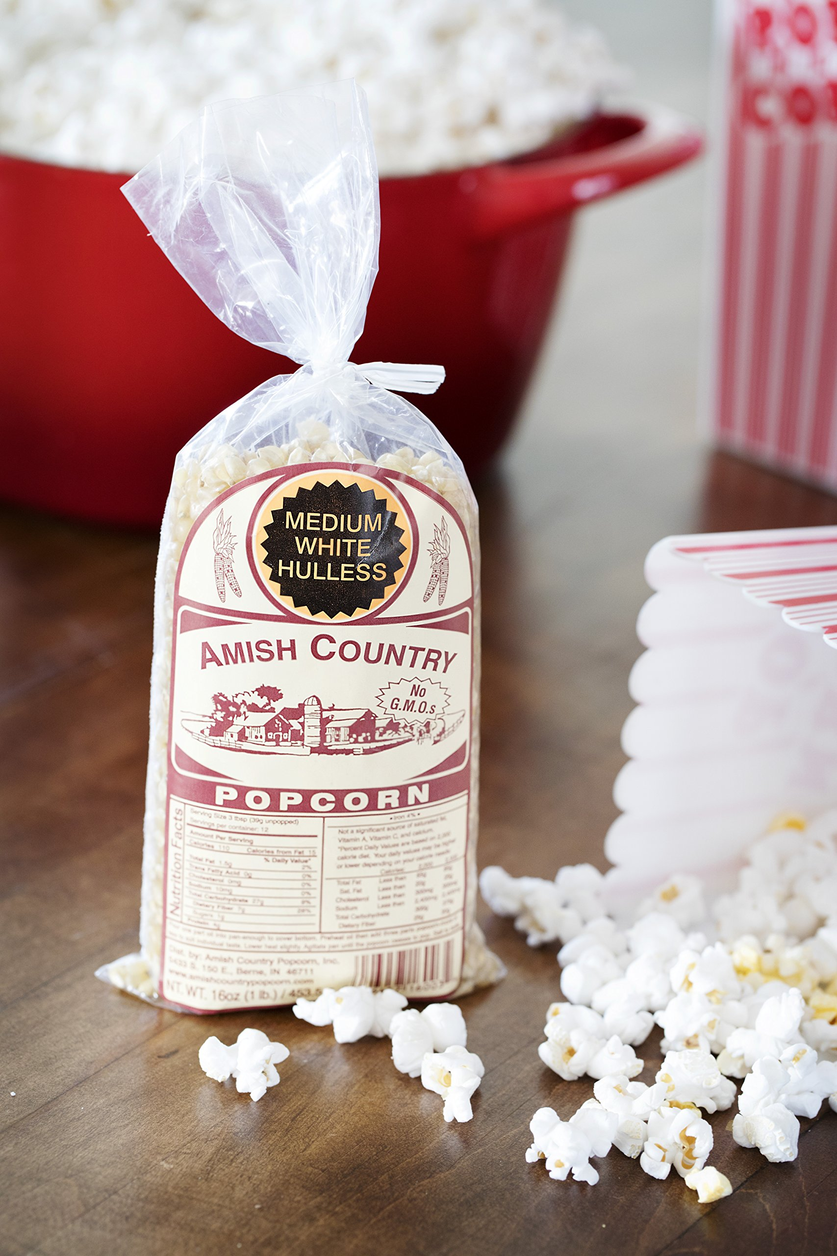 Amish Country Popcorn - Medium White Popcorn (1 Pound Bag) - Old Fashioned, Non GMO, Gluten Free, Microwaveable, Stovetop and Air Popper Friendly - Recipe Guide by Amish Country Popcorn (Image #5)