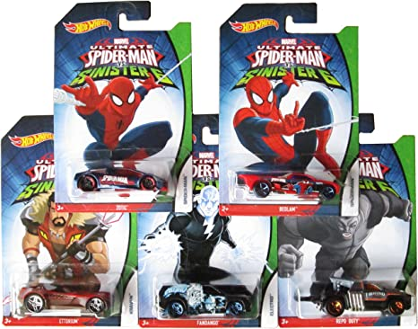 Amazon.com: Hot Wheels Marvel Ultimate Spider-man vs ...