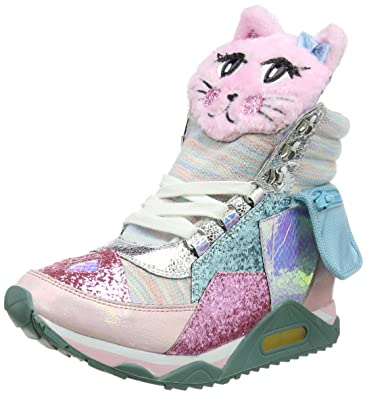 Irregular Choice Women S Candy Jem Hi Top Trainers Pink
