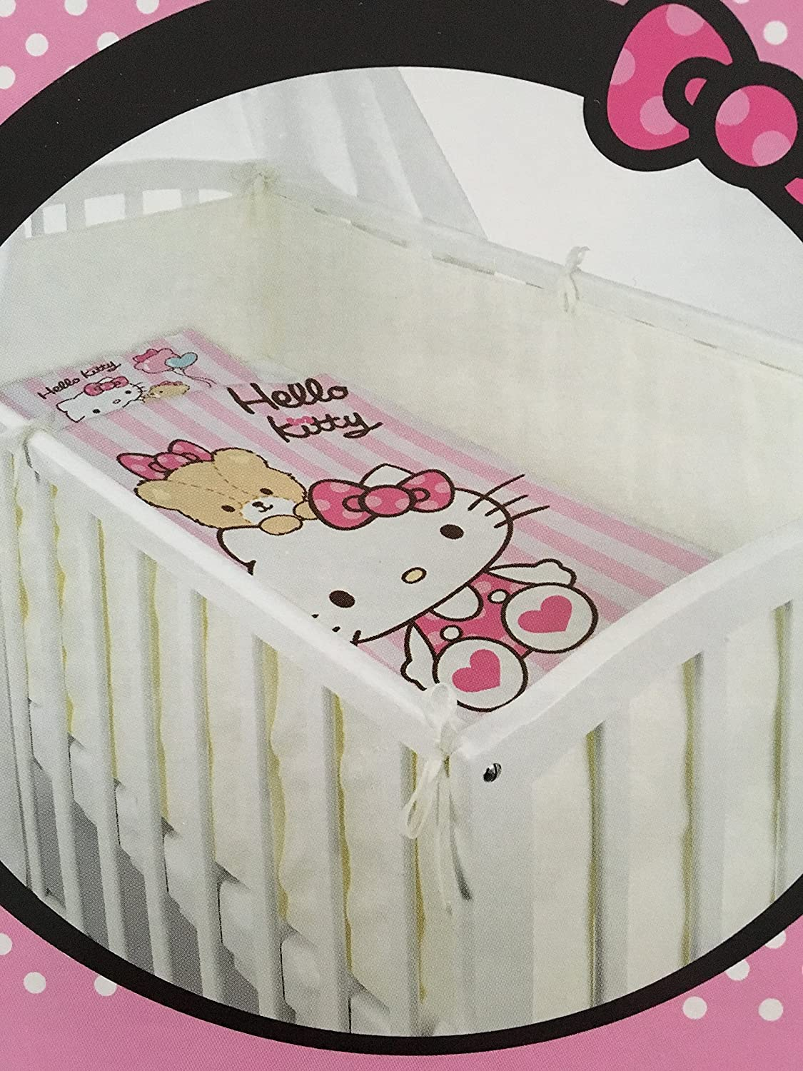 Hello Kitty Cot or Crib Duvet Cover and Pillowcase Norstar