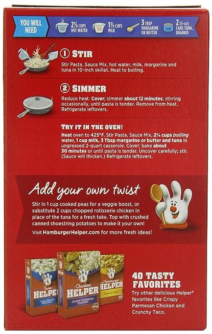 Amazon.com : Betty Crocker Tuna Helper Tuna Cheesy Pasta 5.3 oz Box (pack of 6) : Packaged Pasta Dinner Kits : Grocery & Gourmet Food