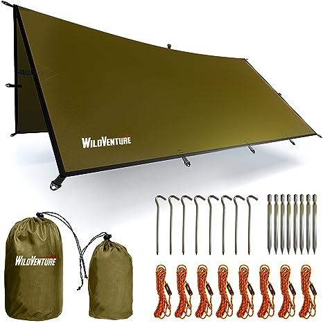 Amazon.com   WildVenture Tent Tarp Rain Fly - Waterproof Lightweight ... 9709f12764e25