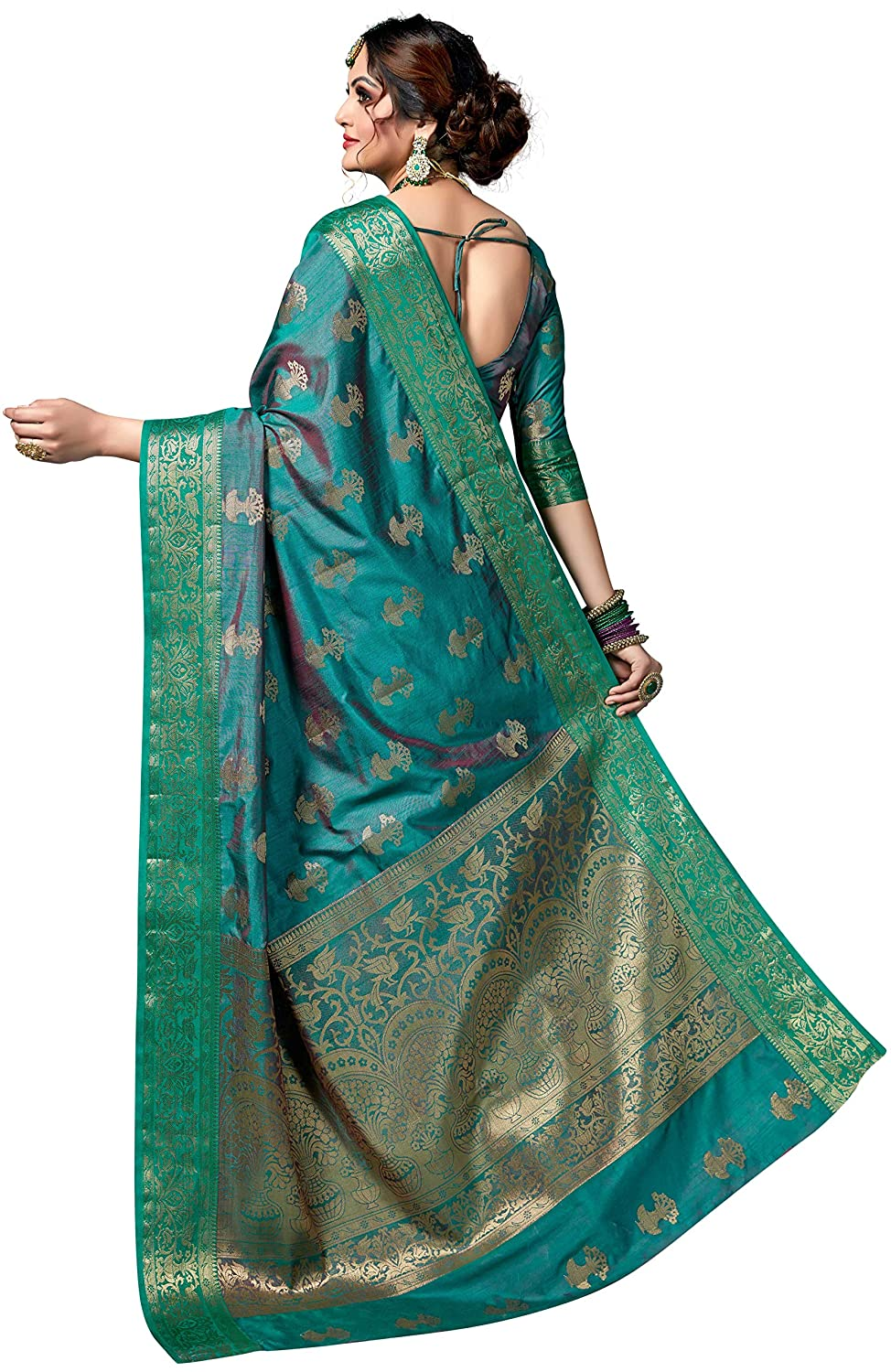Turquoise Blue, Green Women's Silk Saree Collection
