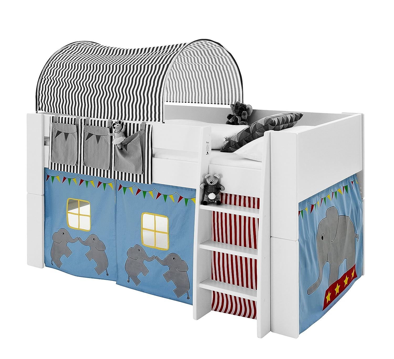 Steens Kids Tent for Mid Sleeper Bed, Dark/Light Blue Steens Furniture 290624174