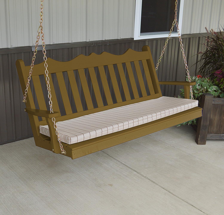 Aspen Tree Interiors - columpio de porche de madera para exteriores, columpio colgante para patio, banco de madera para 2 personas, porches delanteros ...