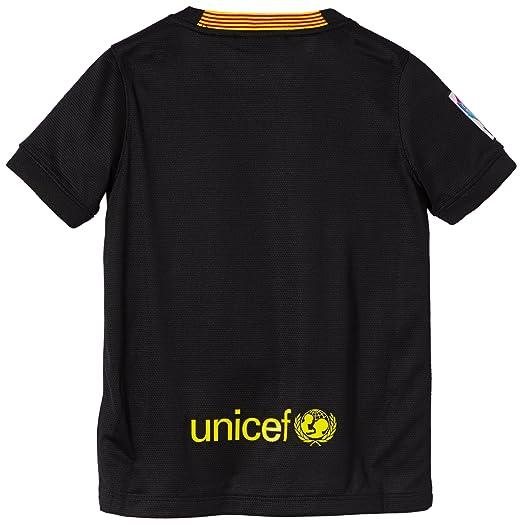 Nike F.C. Barcelona - Camiseta de fútbol, 3ª equipación, 2013-14 Black/Vibrant Yellow/Vibrant Yellow Talla:extra-large: Amazon.es: Deportes y aire libre