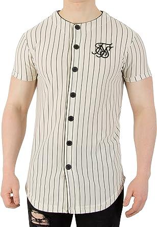Sik Silk Camiseta Siksilk – Loop Back Button Through Sweat Beige/Negro Talla: XL (X-Large): Amazon.es: Ropa y accesorios