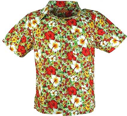 GURU-SHOP, Camisa Hippie, Camisa Hawaii, Rojo, Algodón, Tamaño:L, Camisas de Hombre: Amazon.es: Ropa y accesorios