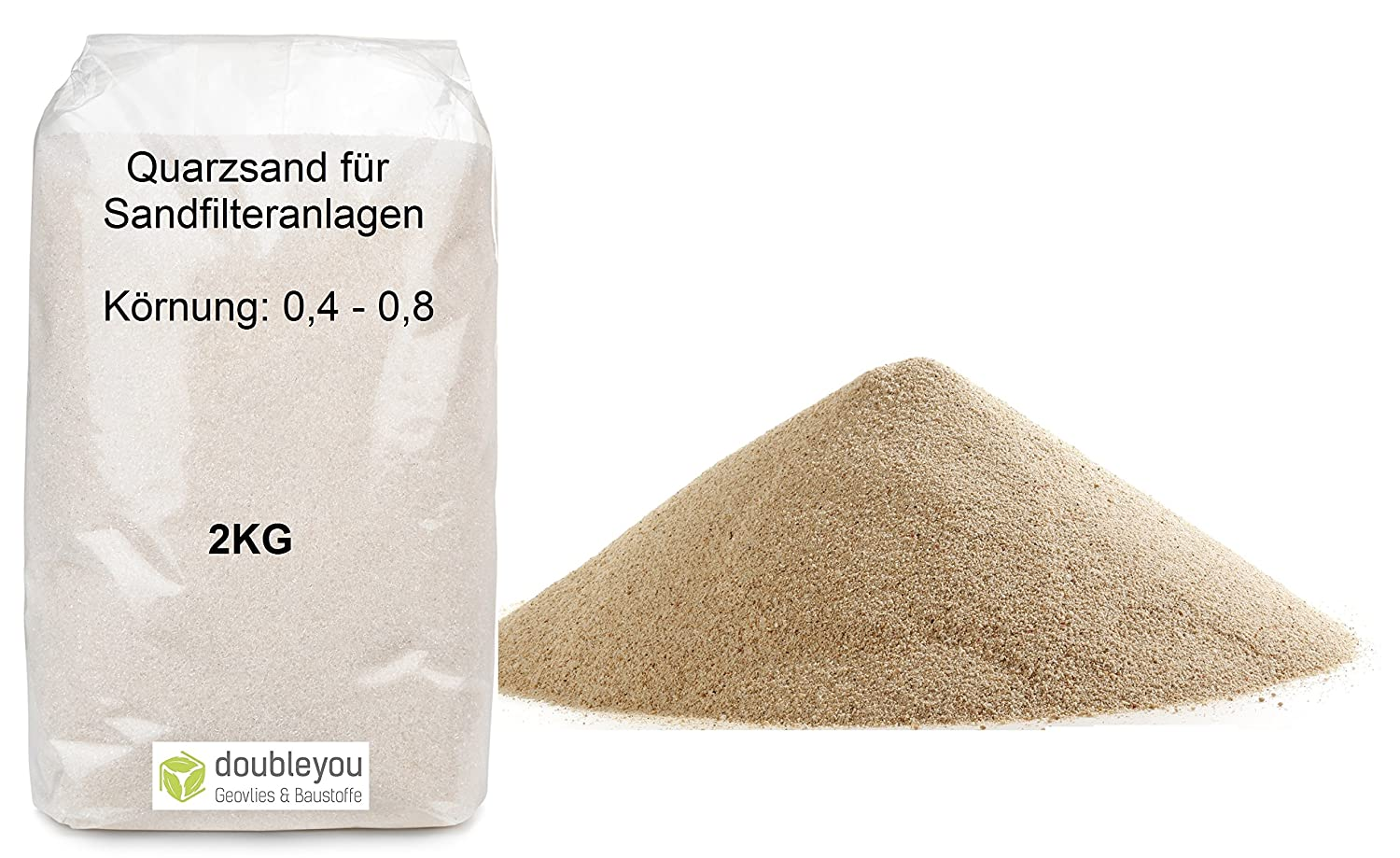 Quartz Sand for Pool Sand Filter Pumps 0.4 – 0.8 mm