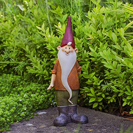 Magnus le nain de jardin en résine colorée.: Amazon.fr: Jardin
