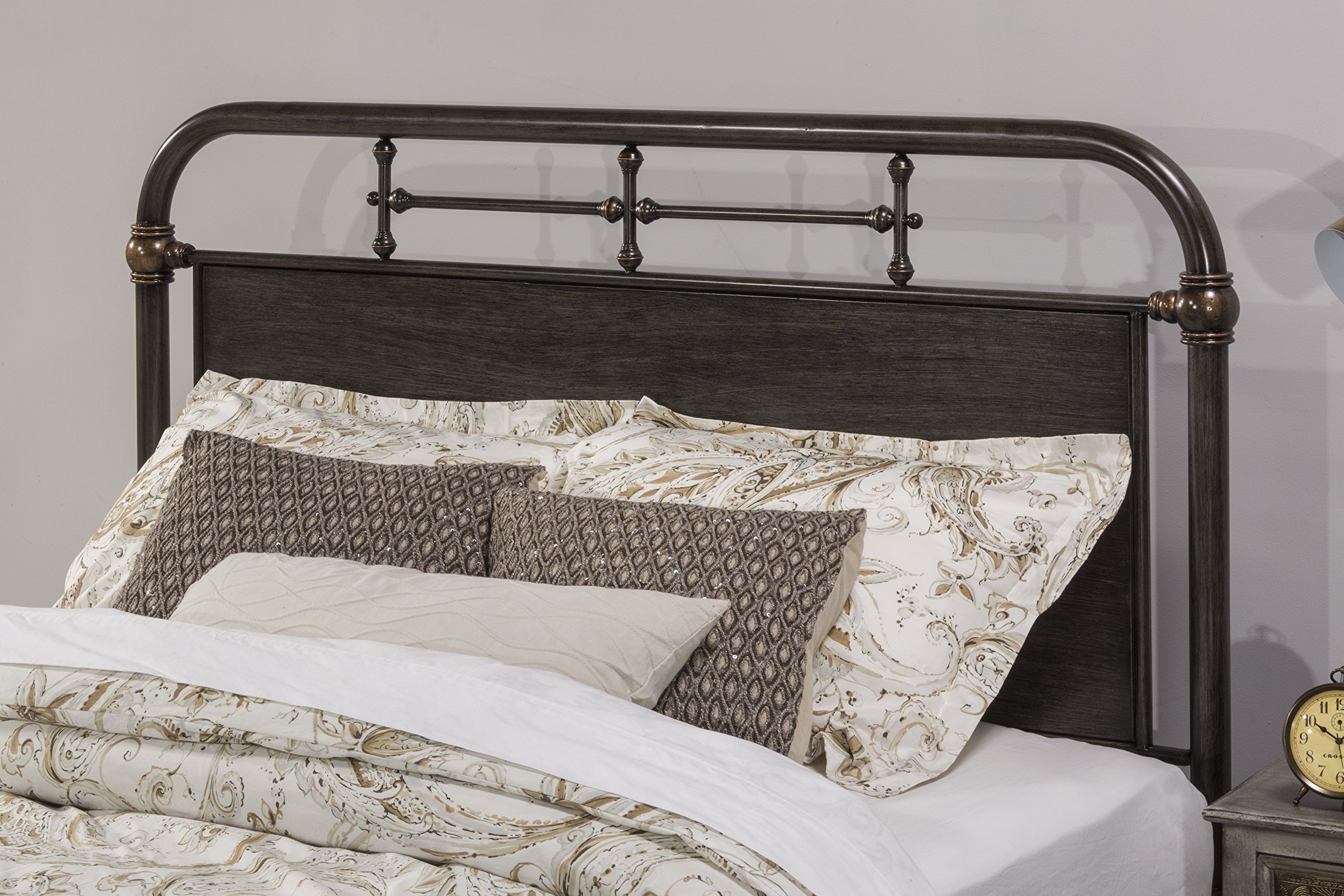 Hillsdale 1810HQR Headboard with Frame, Queen, Rubbed Black