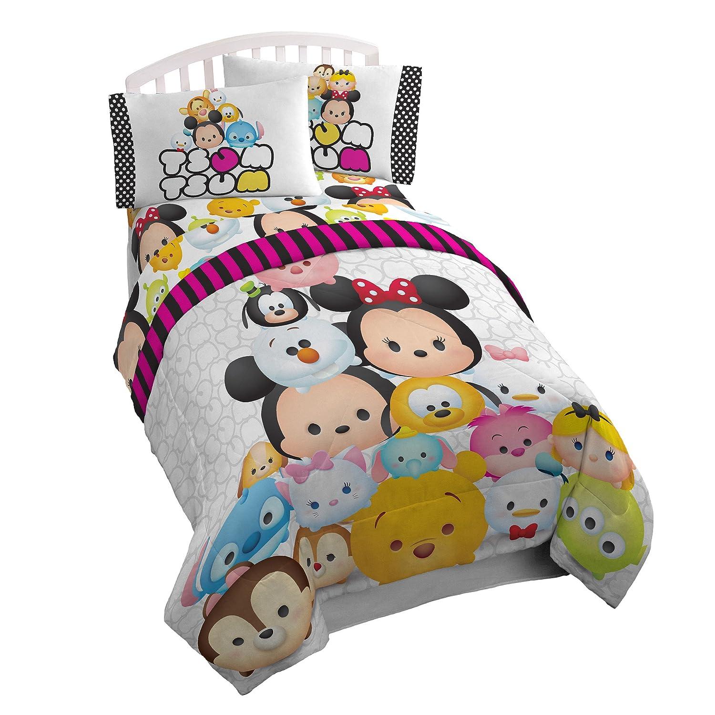 "Disney Tsum Tsum ""Faces"" Comfy Reversible Poly Fill Comforter, Twin"