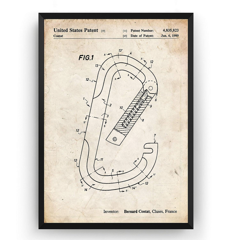 Mosquetón de Escalada 1989 Poster de Patente - Patent Póster ...