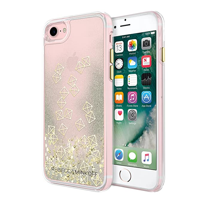 f64a3f2e9 Image Unavailable. Image not available for. Color: Incipio Apple iPhone 7/8  Rebecca Minkoff Glitterfall Case - Gold Studs