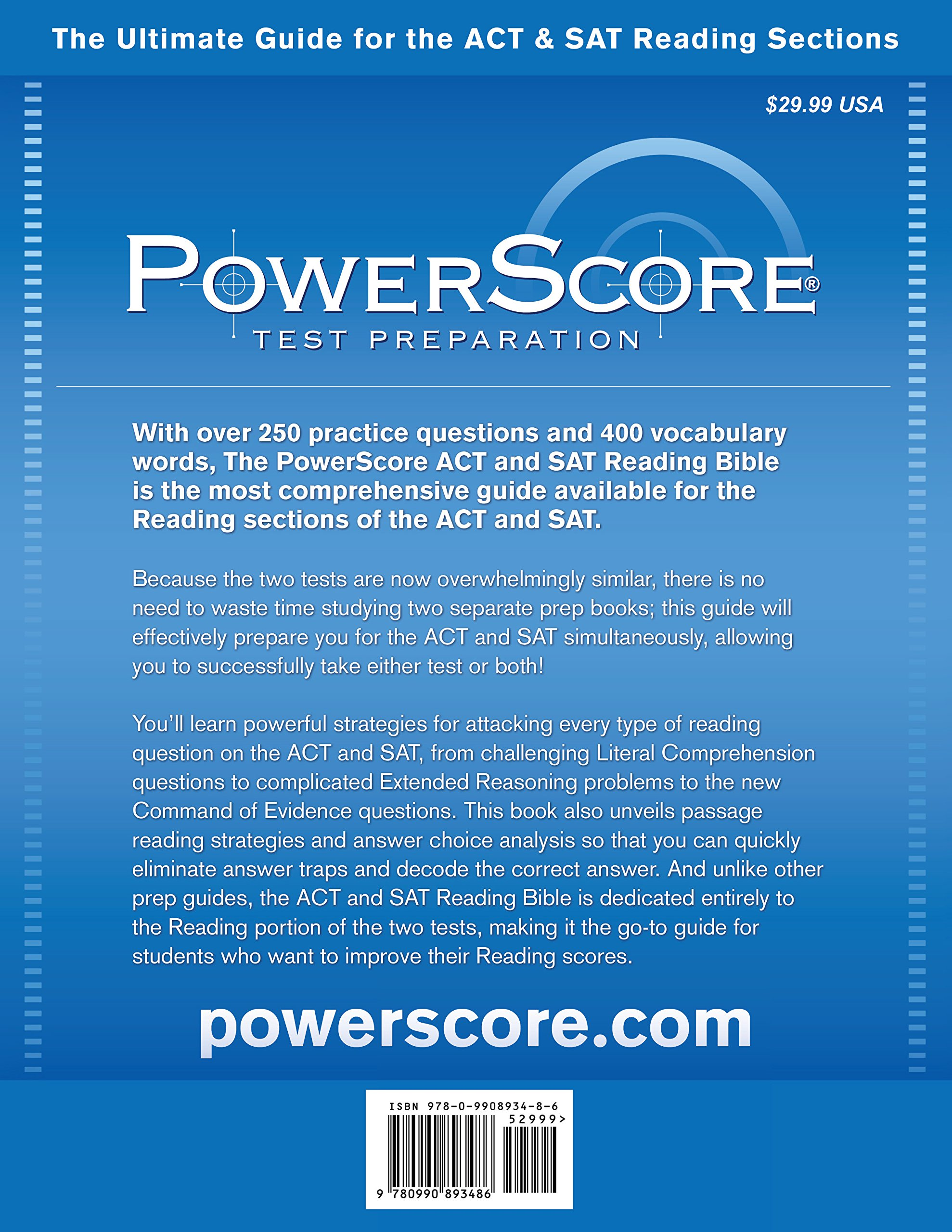 Buy The Powerscore Act & Sat Reading Bible: The Only Book You Need for the  Act & Sat Reading Sections! Book Online at Low Prices in India | The  Powerscore ...