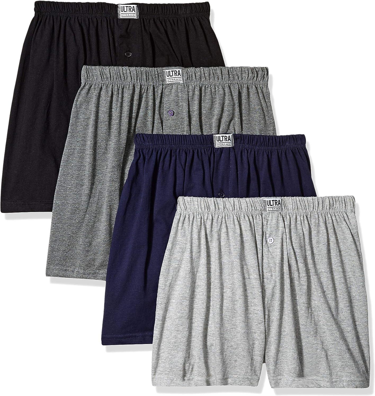 2020 Men/'s Classic Boxer Shorts Comfort Underwear Loose Fit Cotton Underpants