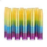 AmazonCommercial - SSV025M-500 Plastic Shot Glass, 2 oz, Multicolor, Pack of 500 multiple color