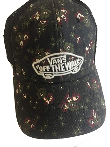 a37af7a3743 Vans Beach Girl Hat Camper Trucker Cap Black Floral ACER  Amazon.ca   Clothing   Accessories