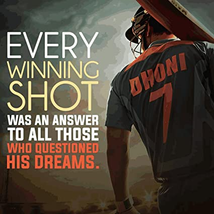 Image result for dhoni poster