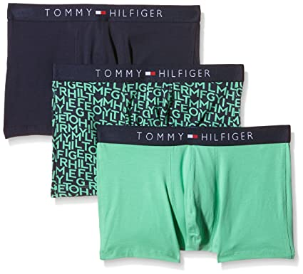 659cde9b2a37 Tommy Hilfiger Underwear Men Icon Trunk 3 Pack Logo Mix Intimate, Multi,  Size M: Amazon.co.uk: Clothing