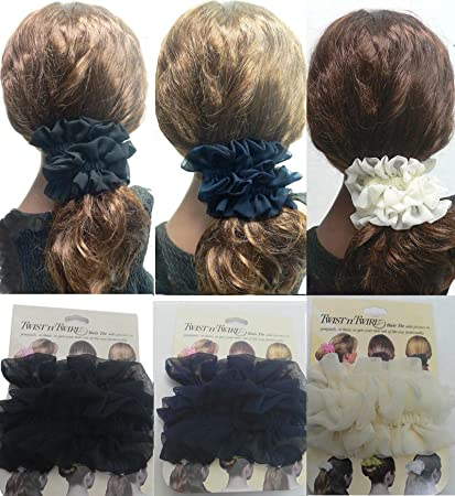 Amazon.com   Set of 3 Twist  n  Twirl Hair tie for Thick or Thin ... 69a6c48a8ea