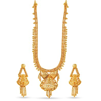 designs gold jewellery heavy necklace gemstone
