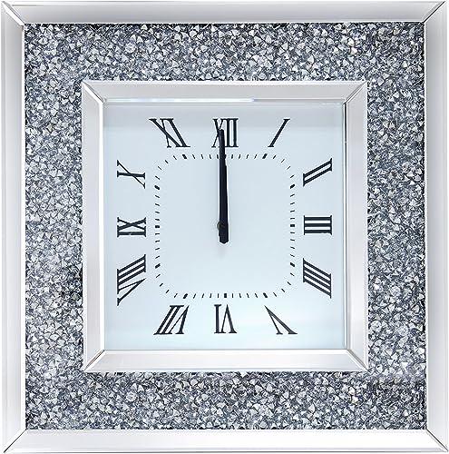 Acme Furniture Nora 97395 Noralie Wall Clock, Mirrored