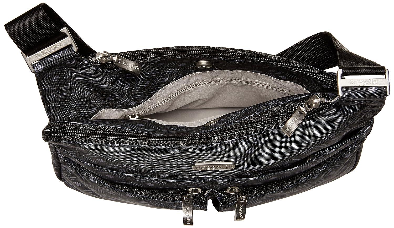 0555e429e Baggallini Cross Over Crossbody with RFID, black diamond print: Handbags:  Amazon.com