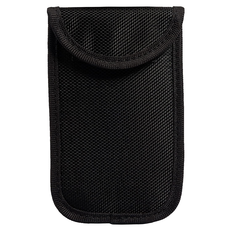 ECENCE 1x RFID radiation protection bag for keyless keys keyless go kessy car key signal blocker Theft protection Black color 11010401