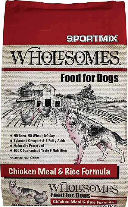 Amazon Com Sportmix Wholesomes Chicken Meal And Rice Dry Dog Food 40 Lb Pet Supplies