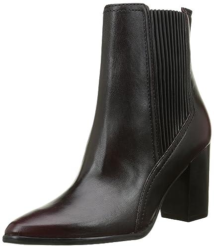 Bronx Damen Geneva Kurzschaft Stiefel, Rot (Bordeaux 34), 37 EU (4UK