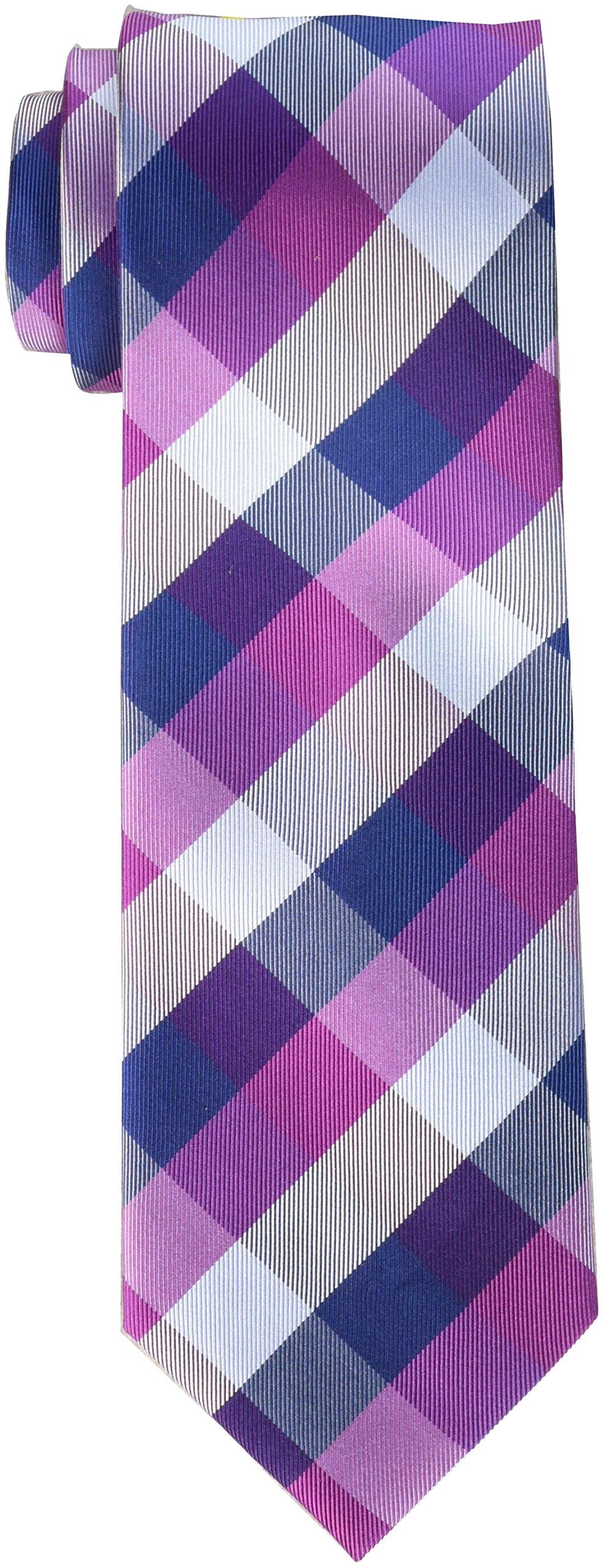 Tommy Hilfiger Men's Buffalo Tartan Tie, Bright Pink, Regular