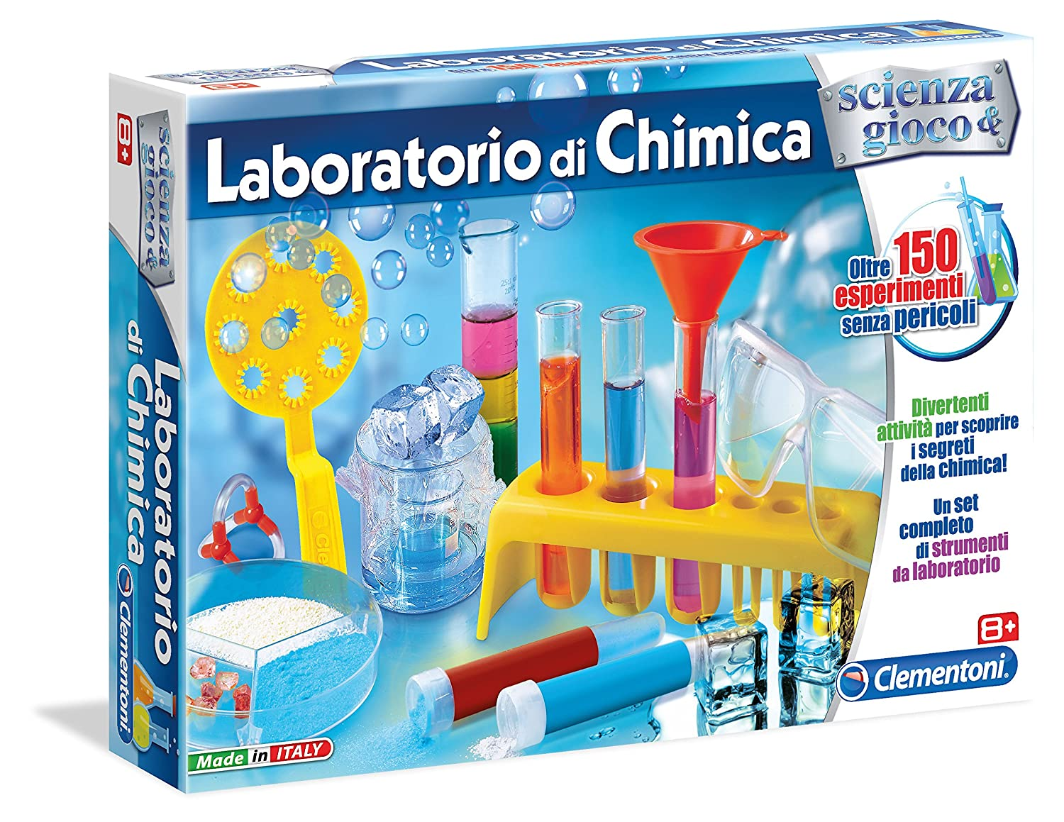 Connu Clementoni 13908 - Laboratorio di Chimica Gioco Educativo e  IS02
